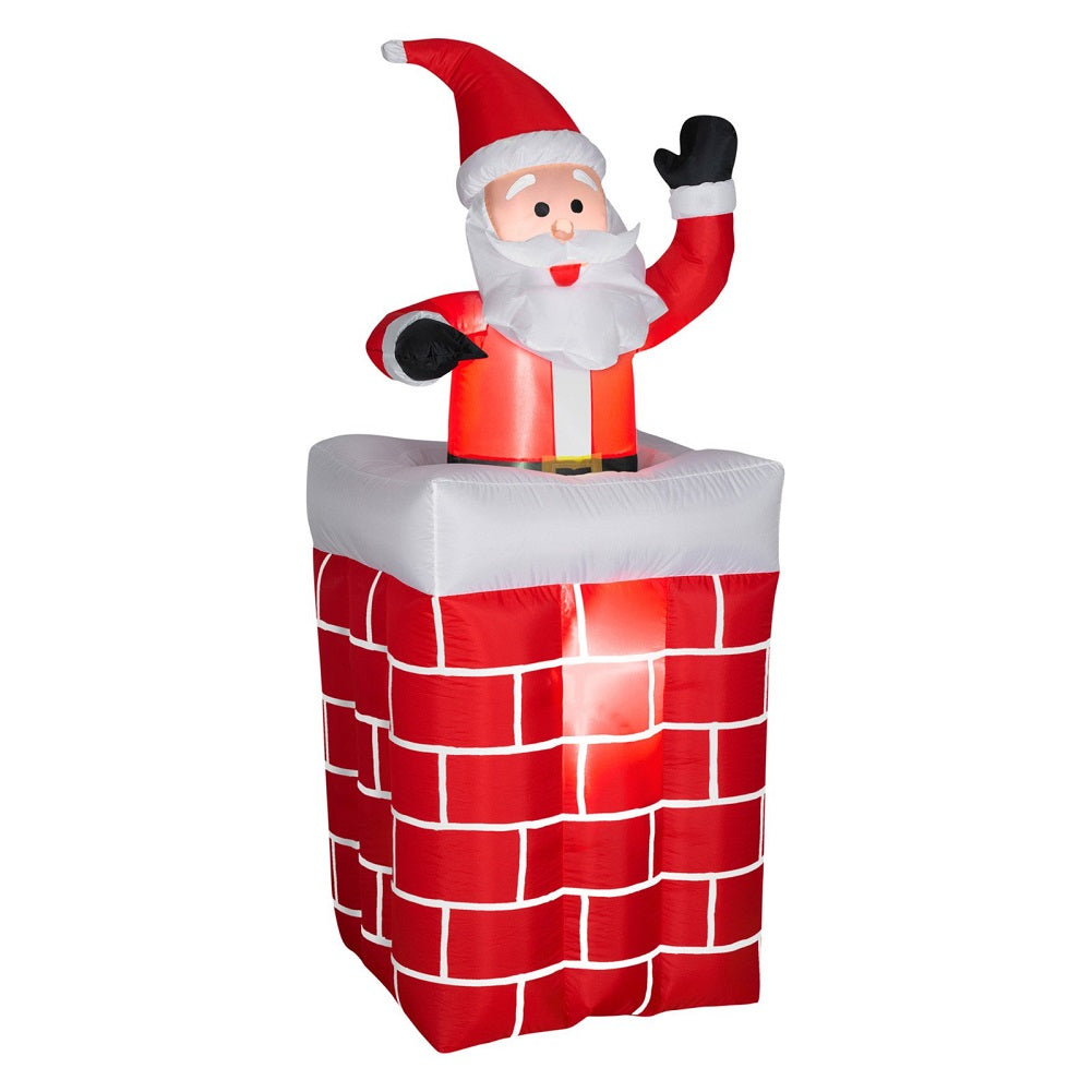 Holiday Time 5 FT Animated Santa Pop-Up From Chimney Airblown Inflatable