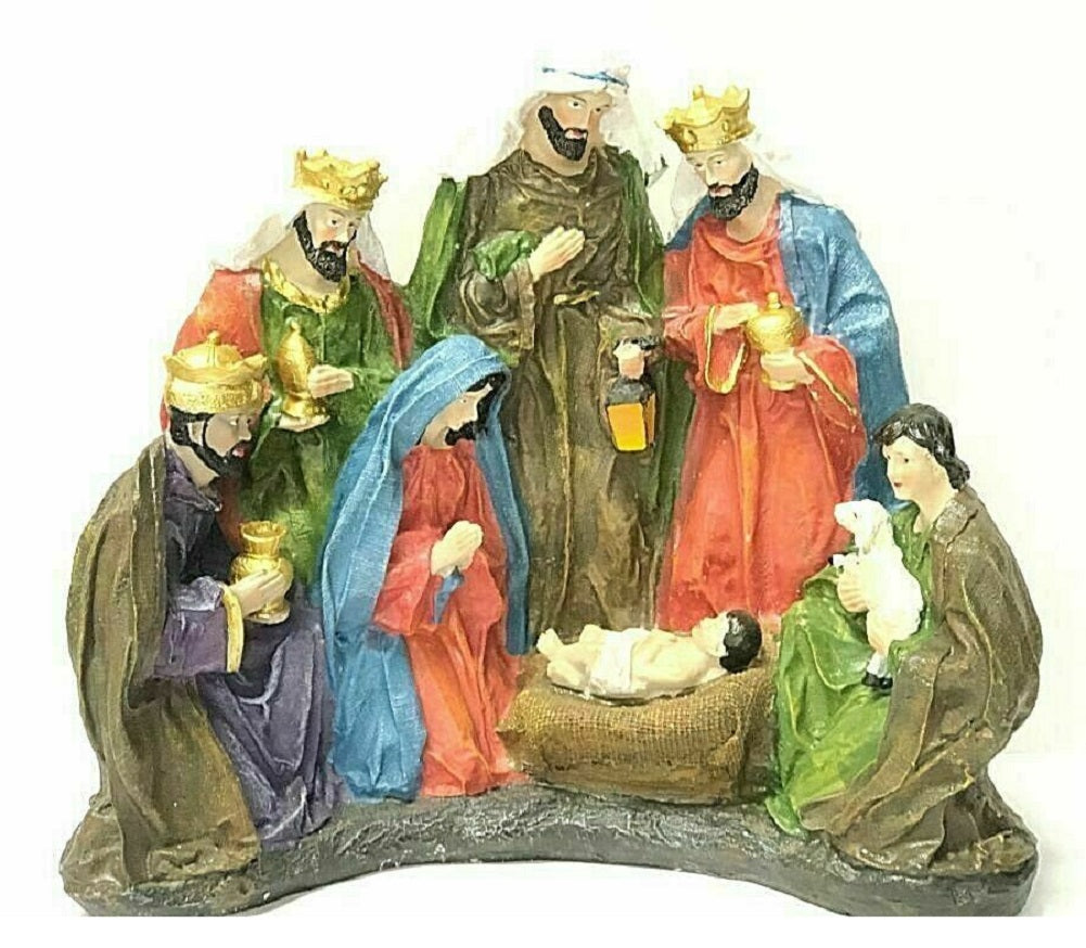 "Home Accents Holiday Tabletop Nativity Scene 5.9"" W x 12.4"" L x 10.4"" H"