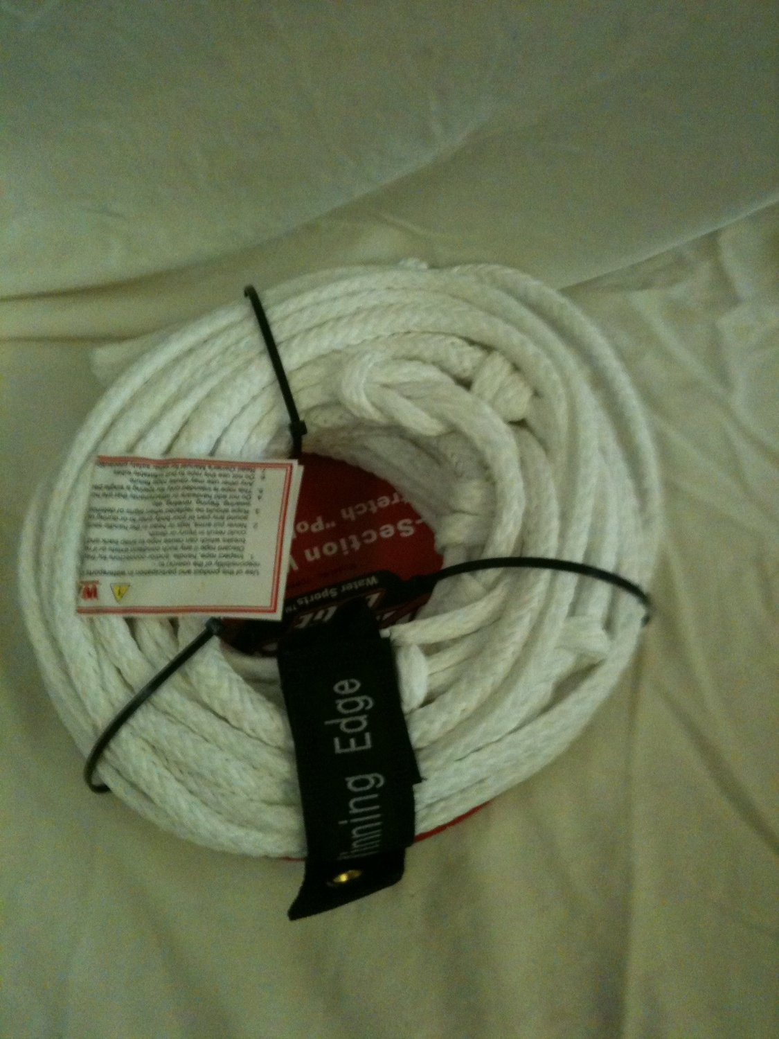 "Winning Edge White 70' 5-Section Wakeboard Low Stretch ""Ply E"" Tow Line"