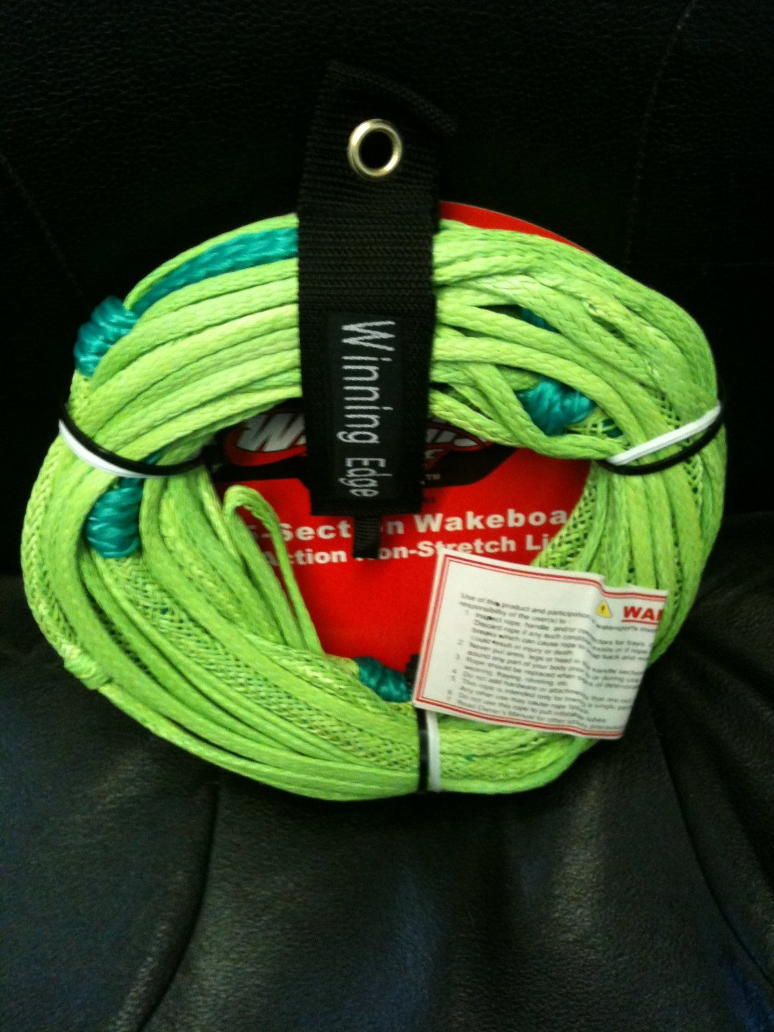 Winning Edge 70' 5-Section Wakeboard Pro Action Non-Stretch Line, Green