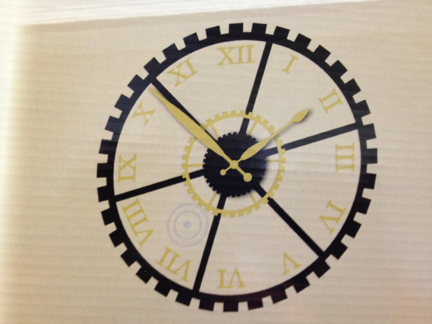 Die Cuts With A View Vinyl Clock Gears 19 inches by 19 inches