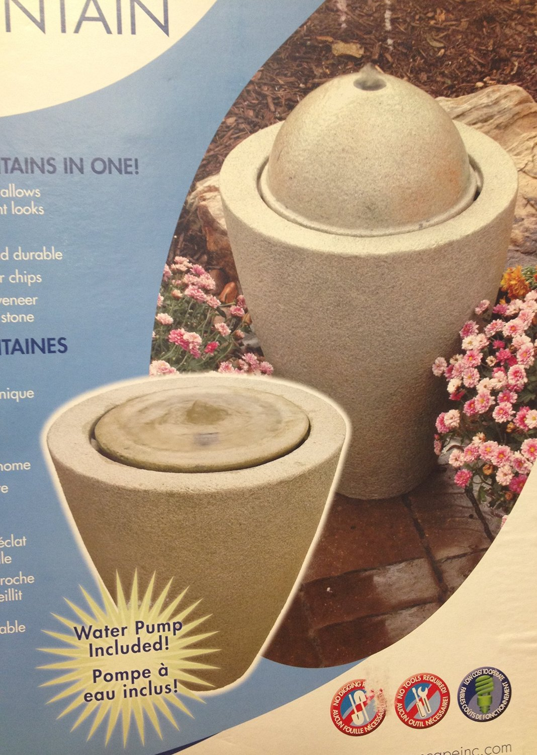 78030 Granite Transition Garden Fountain Large with Pump