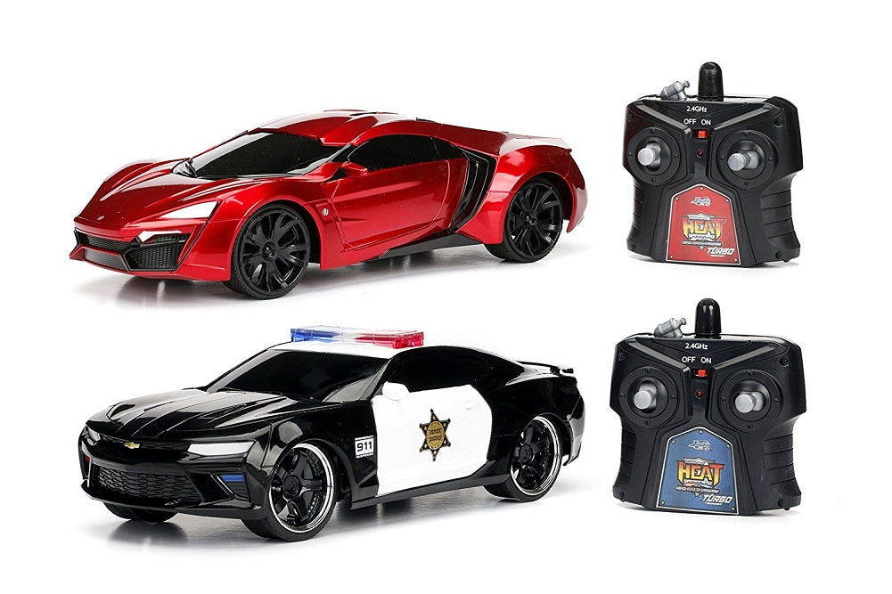 Hyper Charger 1:16 Heat Chase Twin Pack RC Lykan Hypersport & 2016 Chevy Camaro