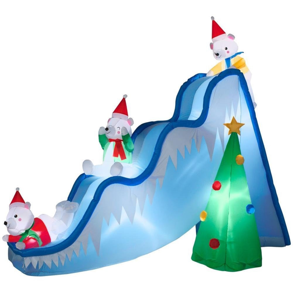 Gemmy 16145 Airblown Polar Bears on Slide Christmas Inflatable