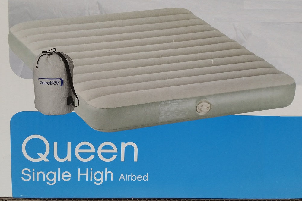 Aerobed Queen Single High Air Bed With Pump