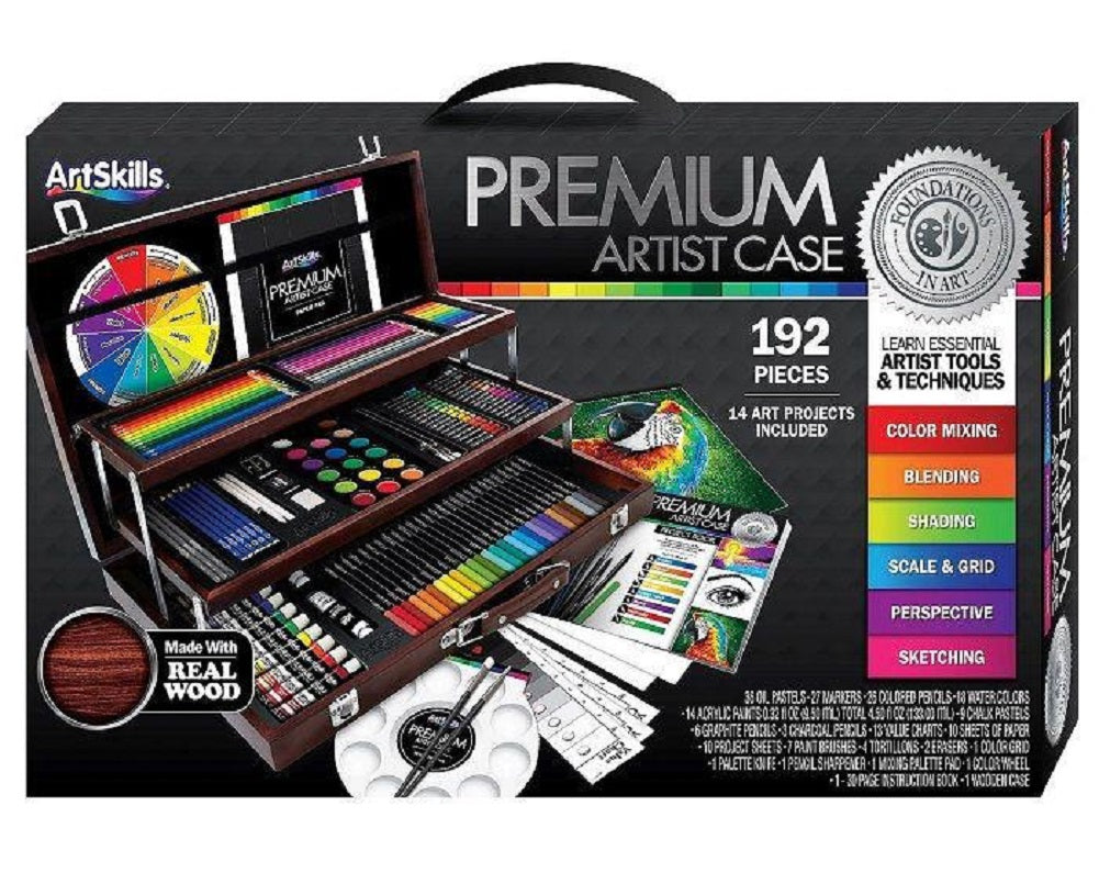 ArtSkillsPremium Art Case, 192 Pieces