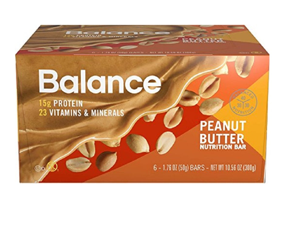 Balance Bar Peanut Butter, 1.76 ounce bars, 6 count