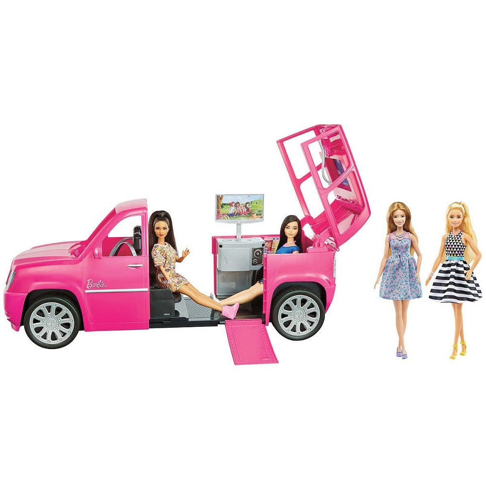 Barbie Limo & Fashionista Giftset with 4 Dolls