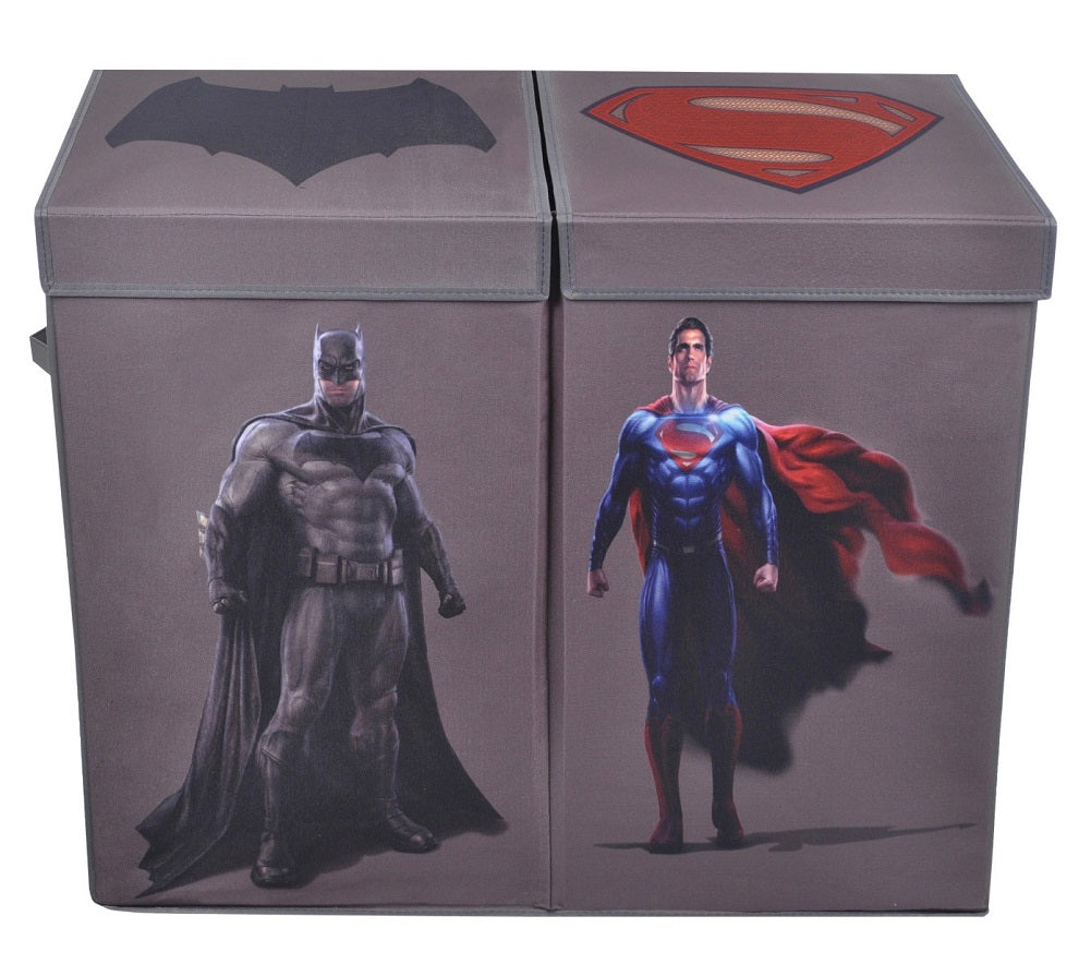 Batman vs Superman Grey Caracter Folding Double Laundry Bin