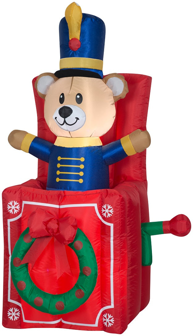 Holiday Time Yard Inflatables Animated Pop-Up Bear 5 ft