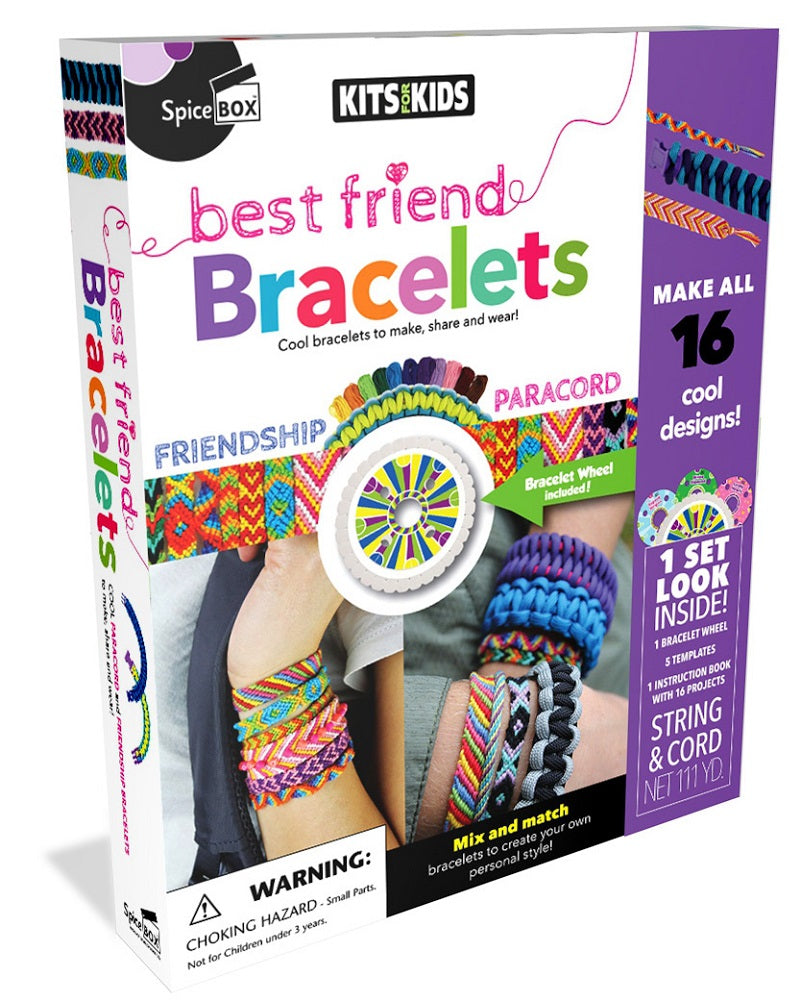 SpiceBOX Kits for Kids Best Friend Bracelets Kit Makes 16 Cool Designs