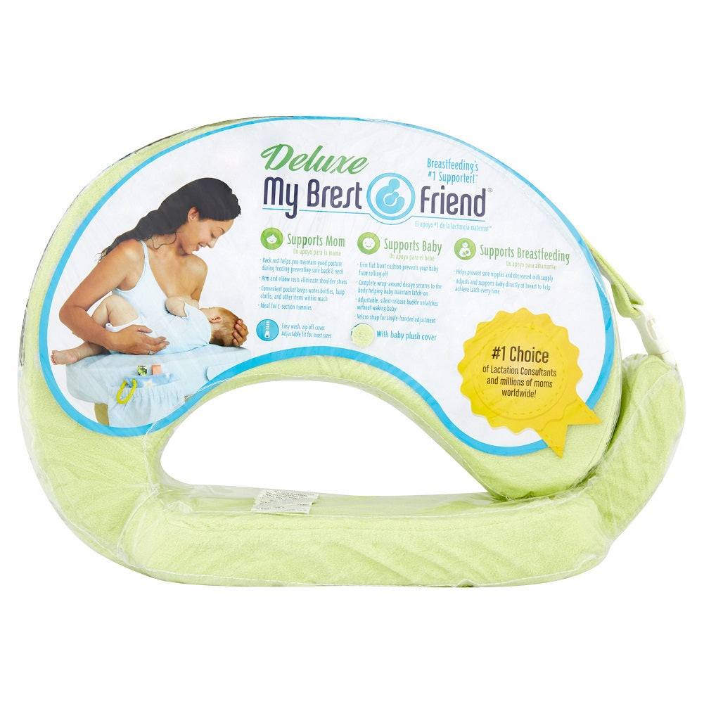 My Brest Friend Green Deluxe Feeding and Nursing Pillow, Light Green