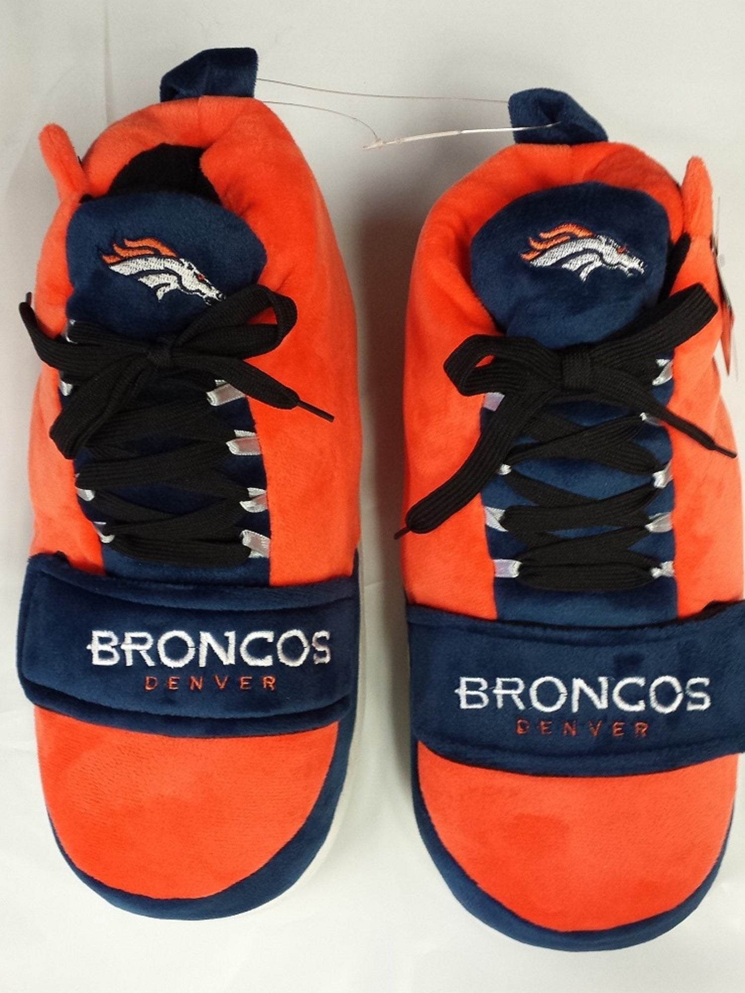 NFL Denver Broncos Puffy Sneakers Slippers, Large