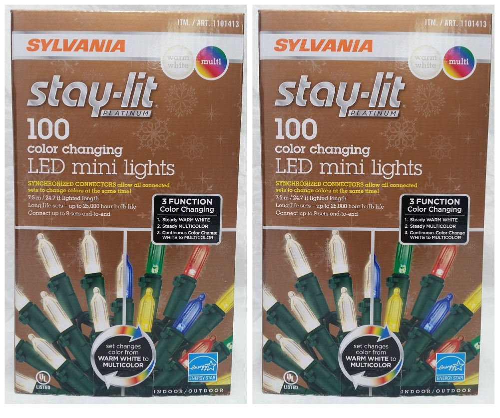 Stay-lit Platinum 200 Color Changing LED Mini Lights, Warm White/ Multi-Color