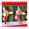 Santa with Reindeer in Cable Car Stable Christmas Inflatable 12FT Wide