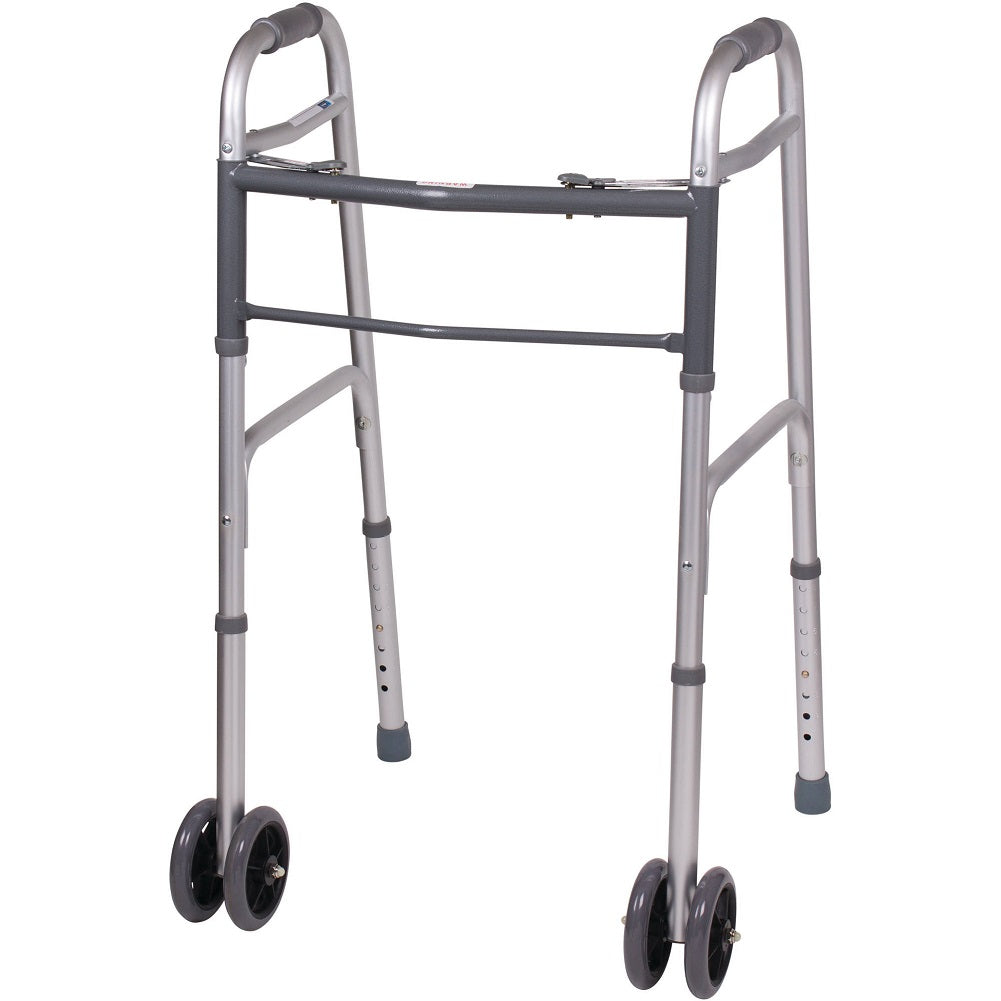 Carex Bariatric Folding Aluminum Walker with Wheels