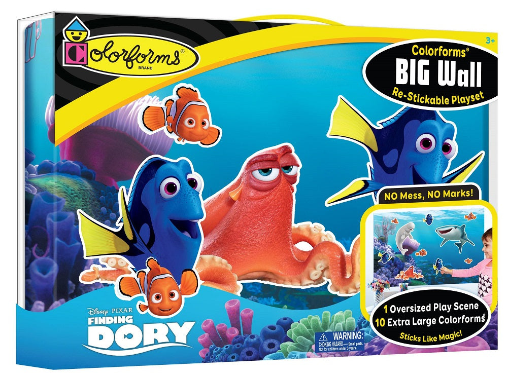 Colorforms Finding Dory Big Wall Re-Stickable Playset