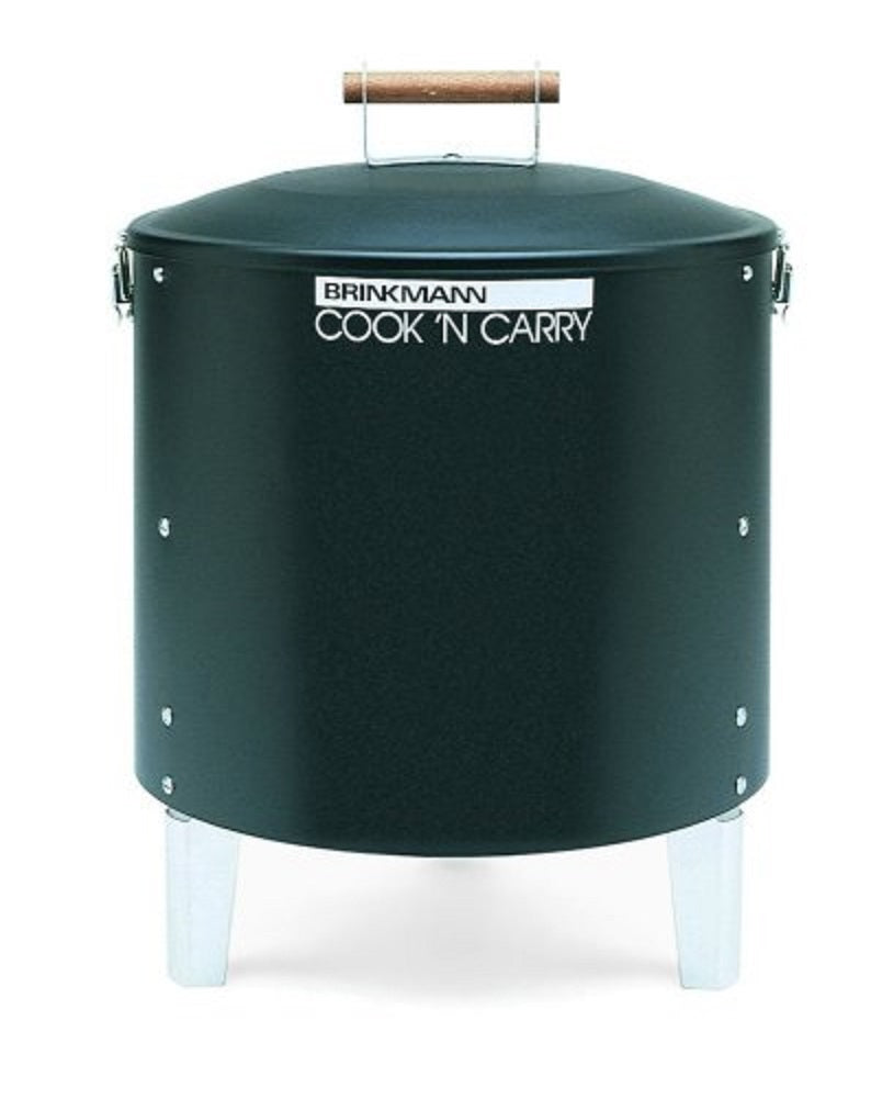 Brinkmann 810-5030-6 Cook'N Carry Charcoal Smoker and Grill, Black (Discontinued by Manufacturer)