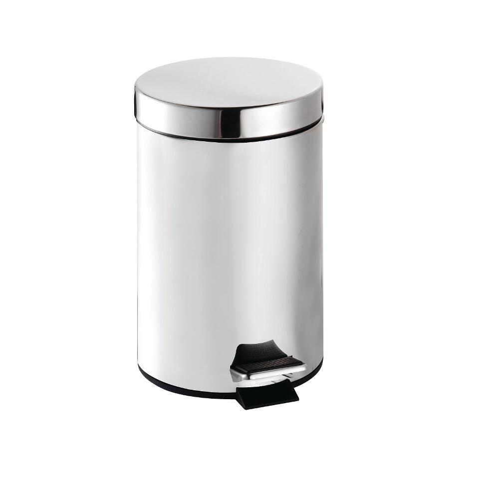 Croydex Britannia Stainless Steel Three Litre Pedal Bin with Polished Chrome Finish