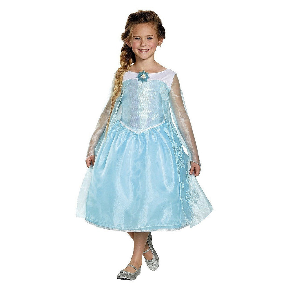 Disguise Frozen Elsa Sequin Deluxe Costume, Child Small (4-6X)