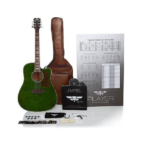 "Keith Urban ""PLAYER"" Tour Guitar 50-piece Package Military Green - Right"
