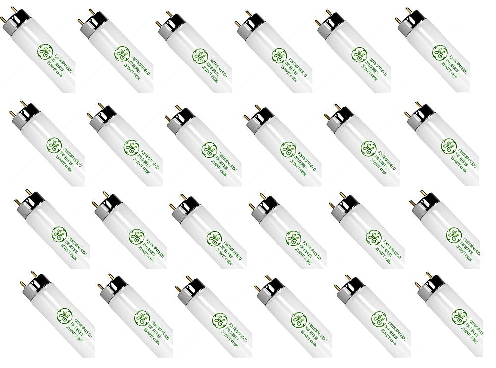 GE Fluorescent Lamps F25T8/SP41/ECO (24-Pack)