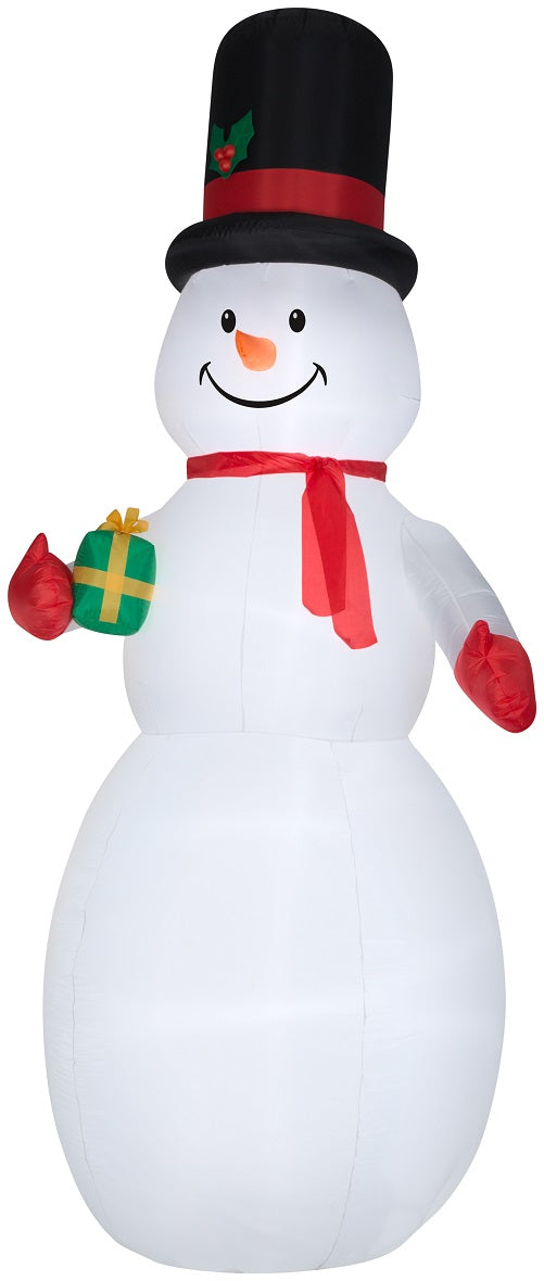 Gemmy 10' Airblown Inflatable Snowman Giant Holiday Time