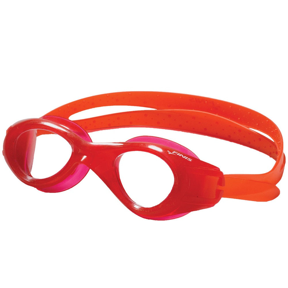 FINIS Nitro Youth Swim Goggle, Red/Clear