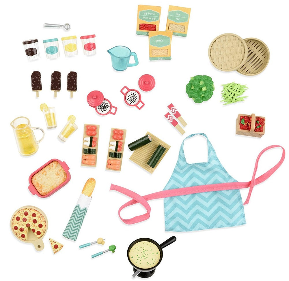 "Lori Doll Accessory - 40-piece Gourmet Market for 6"" Dolls"
