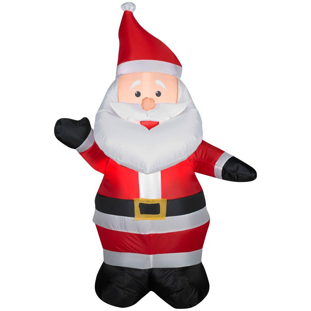 3 ft 6 in LED Santa Airblown Inflatable