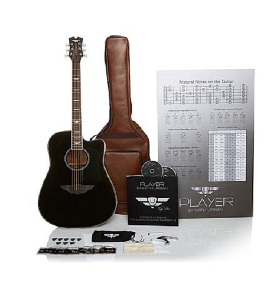 "Keith Urban ""PLAYER"" Tour Guitar 50-piece Package Rich Black - Left"