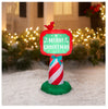 Holiday Time Merry Christmas Sign with Bird Airblown Inflatable 3.5 FT Tall