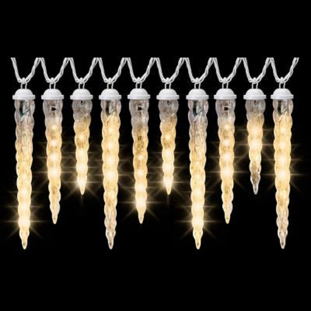 LightShow Shooting Star Icicle Light String, Frozen Fire, LED White