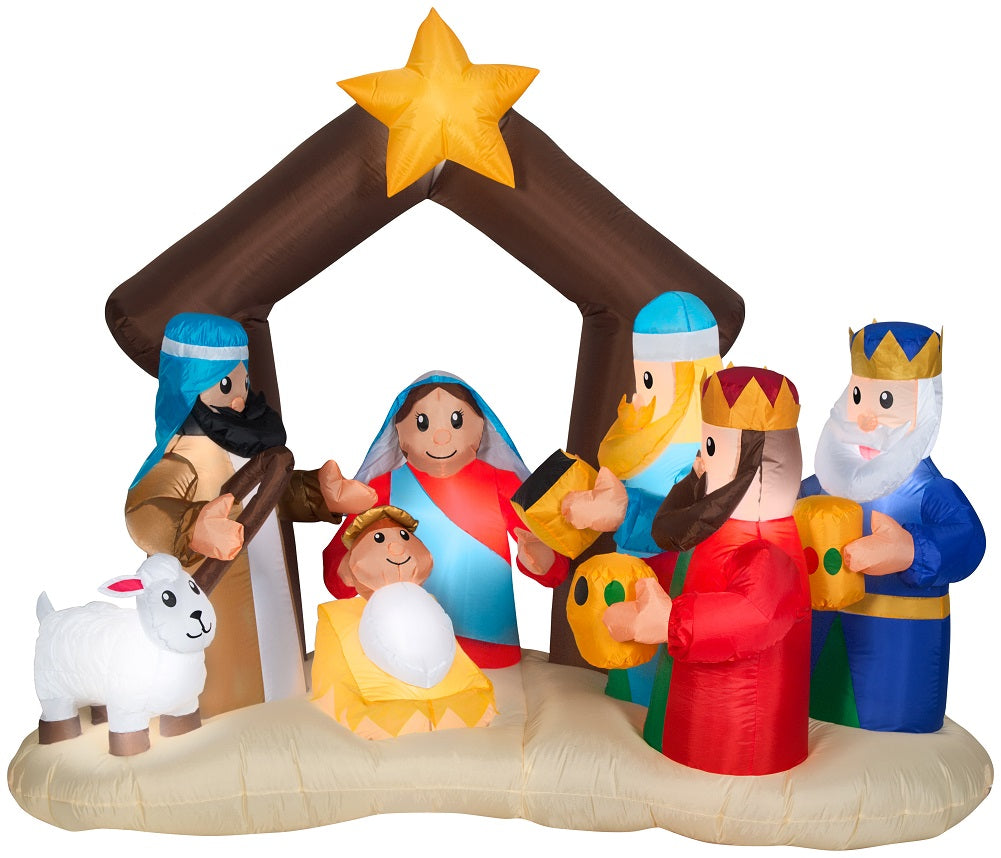Holiday Time Holy Family Nativity Scene with Wise Men
