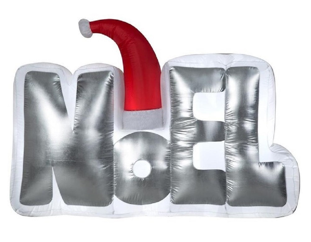 Gemmy Airblown Inflatable Noel Sign with a Santa Hat (5.5 ft.)