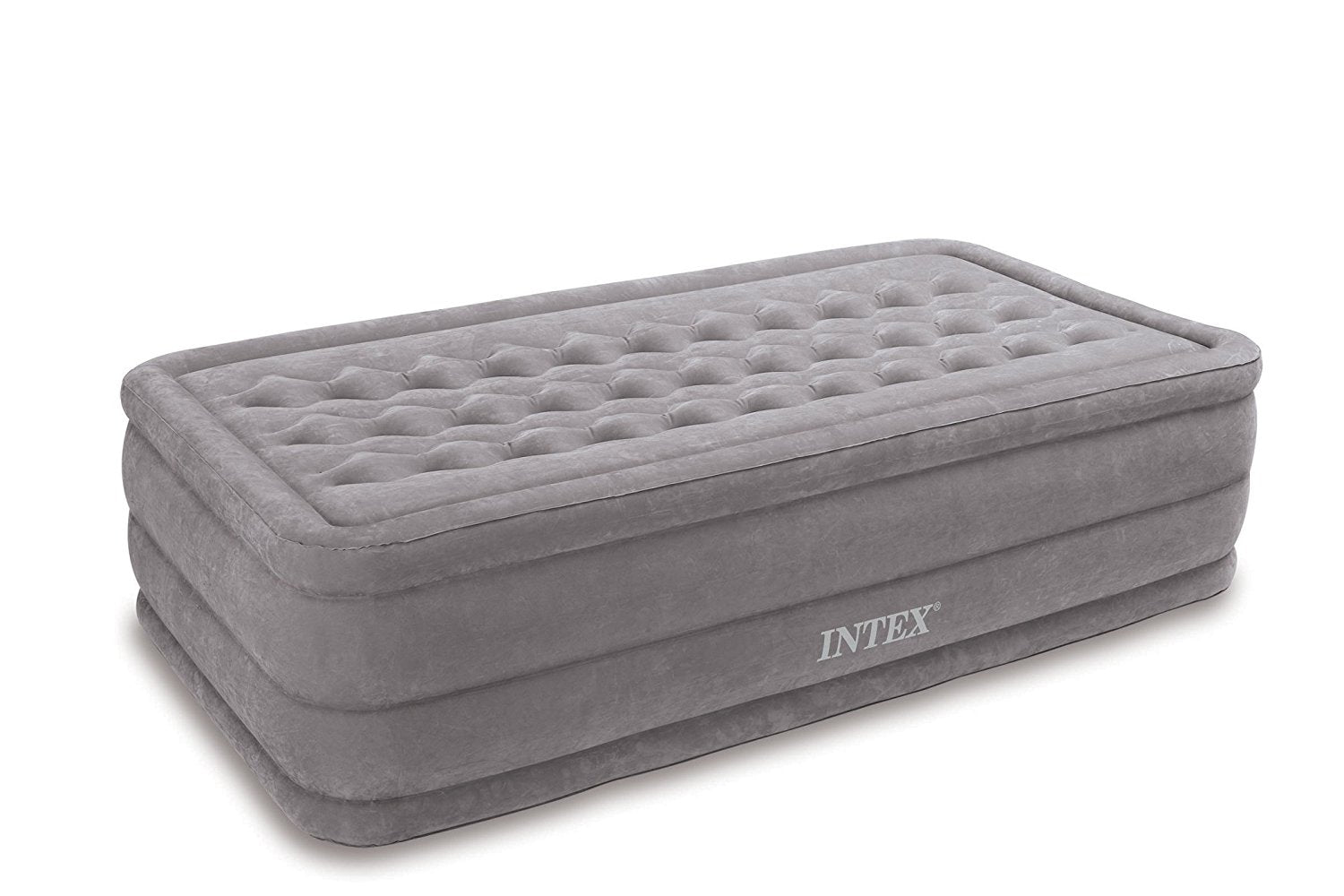 Intex Ultra Plush Airbed with Built-in Electric Pump, Twin, Bed Height 18""