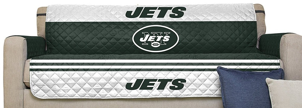 "NFL Sofa Couch Reversible Furniture Protector with Elastic Straps, 75"" x 110"""