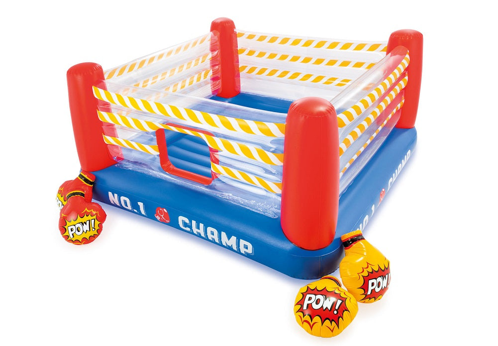 Intex Inflatable Jump-O-Lene Boxing Ring Inflatable Bouncer Playhouse Toy