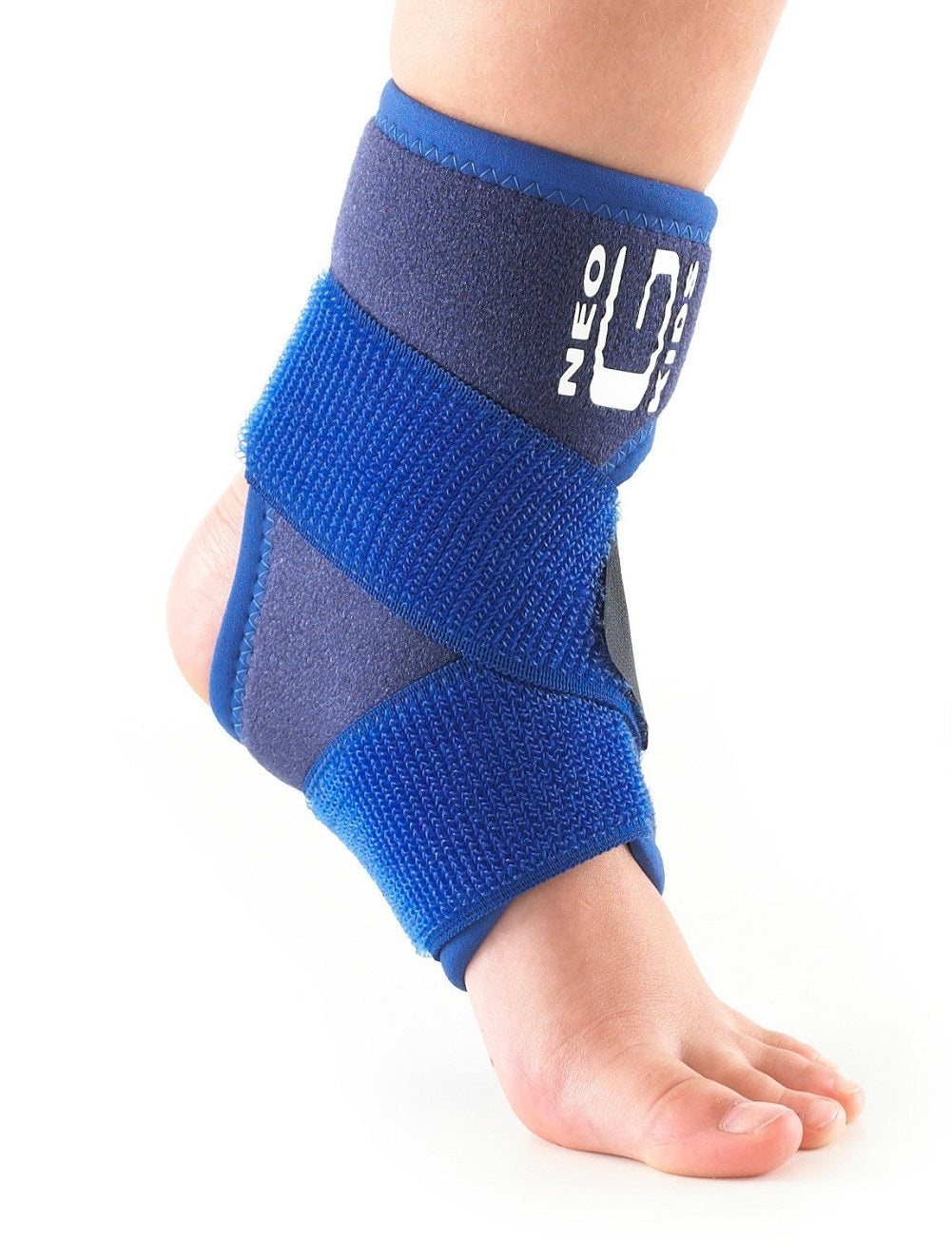 Neo G Kids! Ankle Support with Figure of 8 Straps, Universal Size, Blue
