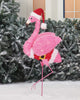 Holiday Time Light-up Fluffy Christmas Flamingo 38 in Tall