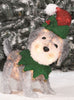 Holiday Time Light-p Fluffy Schnauzer in Elf Suit
