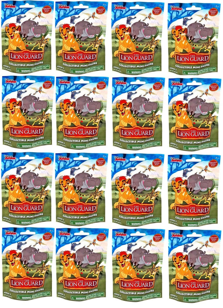 Disney Junior The Lion Guard Collectible Mystery Pack Series 3 - Case (16 Packs)