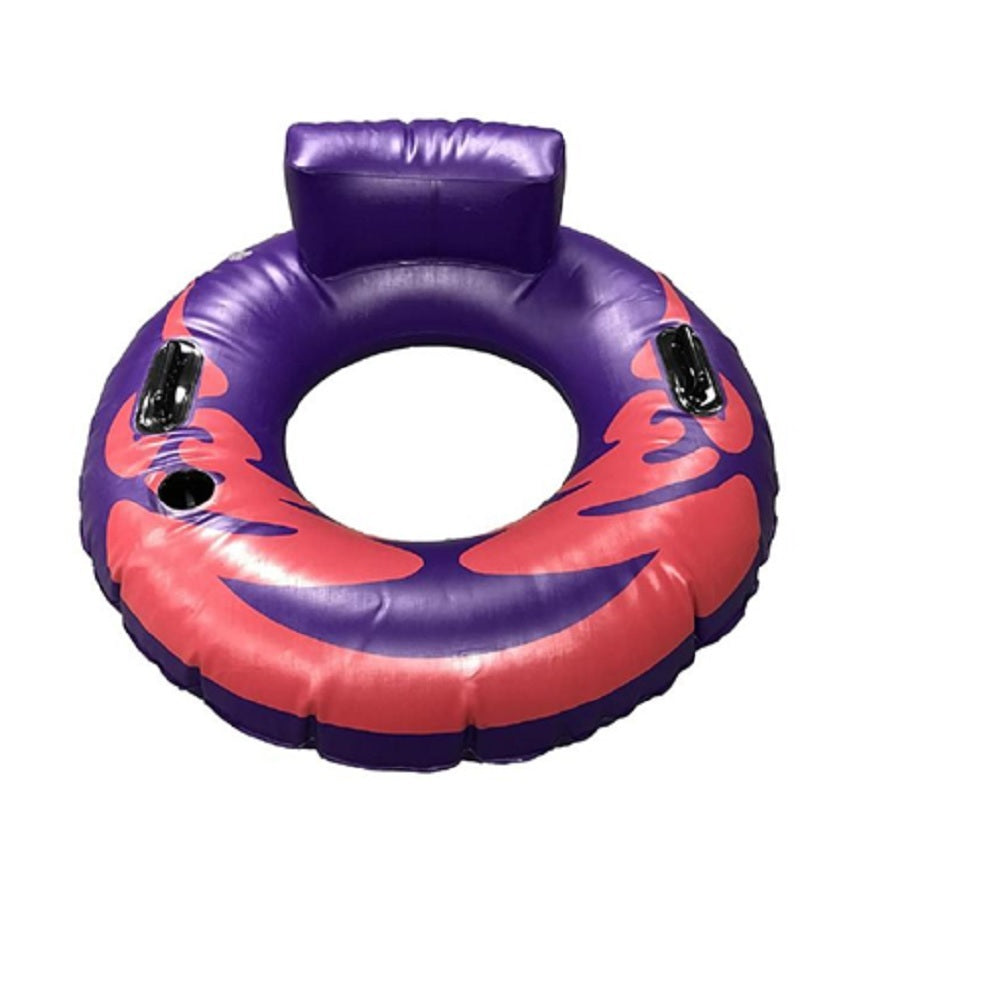 Paddlesports Heavy Duty Inflatable River Tube, Purple/Pink