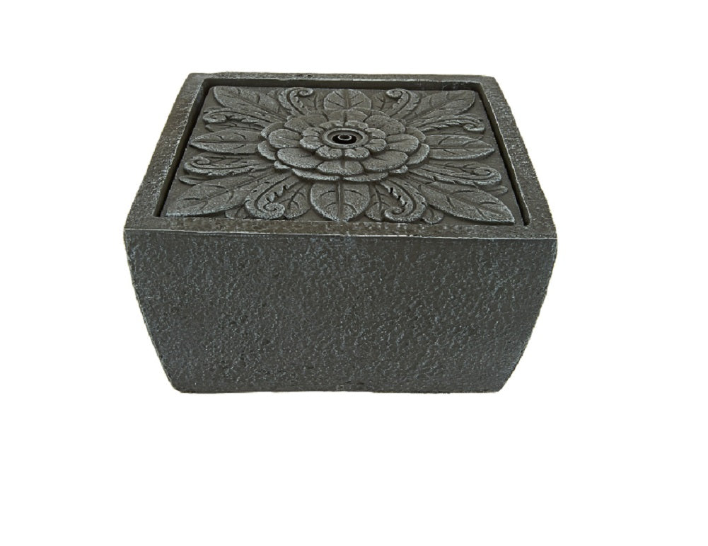 Tavolo Floral Square Tabletop Fountain by Ellen DeGeneres, Slate