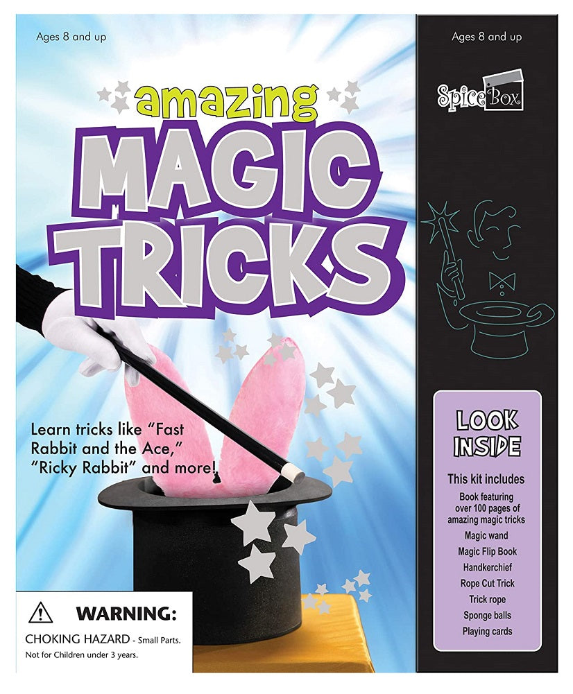 SpiceBOX Kits for Kids Amazing Magic Tricks with Bonus Card Tricks Book