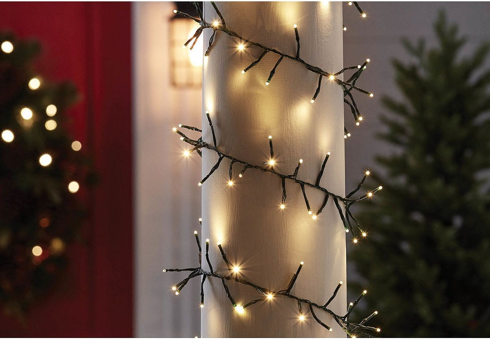 Member's Mark 18' Shimmering LED Garland Lights, Warm Lights 320 Count