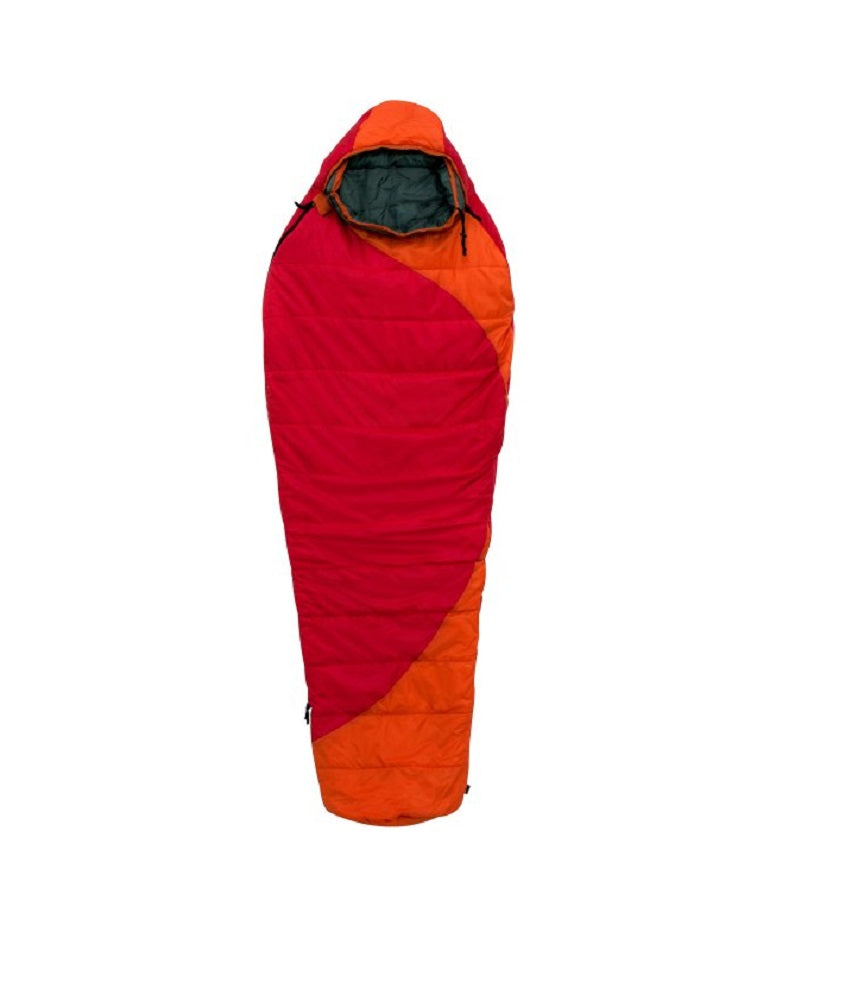Ozark Trail 50F Thermolite Quallo Mummy Extra Long Sleeping Bag Red Orange