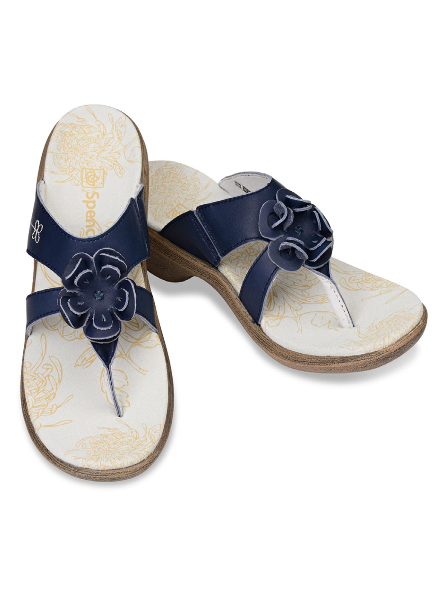 Spenco Rose - Supportive Casual Sandals - Navy Women's - Size 7