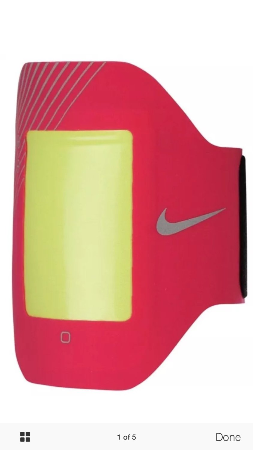 Nike Women E1 Prime Performance Arm Band iPhone 4 4S Pink Force Silver