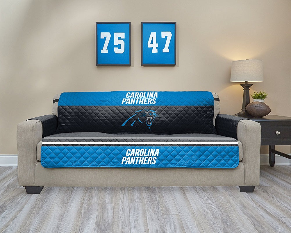 NFL Carolina Panthers Sofa Waterproof Furniture Protectors With Pockets